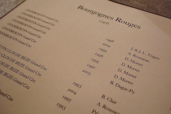 Carta dei vini per ristoranti e alberghi - Servizi
